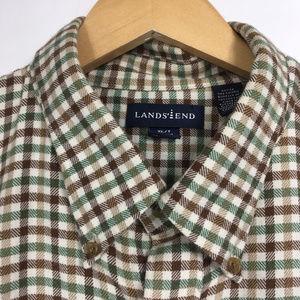Lands End XL/T 17 17.5 Shirt Plaid Flannel